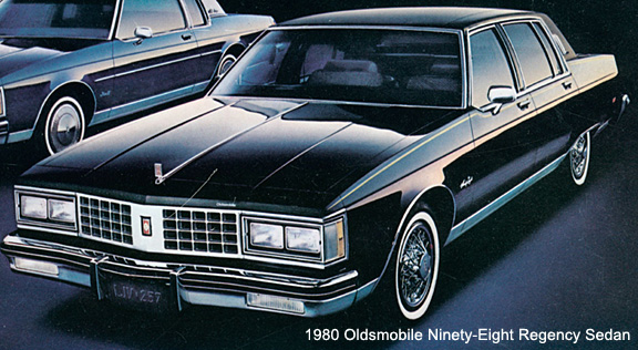 1980 Olds 98 was stunning with its formal roofline and unique rear